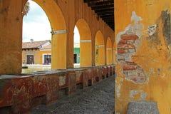 Réservoir d'eau des syndicats de La à l'Antigua, Guatemala Photos stock