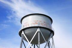 Réservoir d'eau rouillé dans Alcatraz photographie stock libre de droits