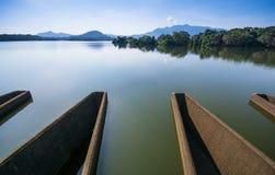 Réservoir d'oya de Loggal, mahiyanganaya, Sri Lanka Photo libre de droits