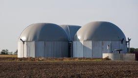 Réservoir de biogaz. Image stock