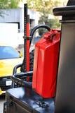 Réservoir de carburant adapté aux besoins du client sur un 4x4 Images libres de droits