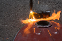 Réservoir de carburant de soudure Photo stock