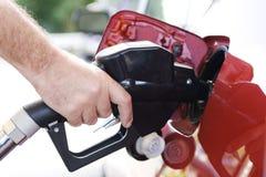 Réservoir de carburant et gicleur photo libre de droits
