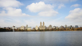 Réservoir de Central Park Photos libres de droits