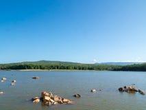Réservoir de Chakkapong Montagne d'ito de Khao, Prachin Buri, Thaïlande Image libre de droits