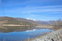 Réservoir de Deer Creek, Utah photographie stock