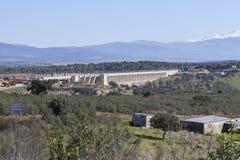 Réservoir de Gabriel y Galan, Caceres, Espagne Images libres de droits