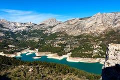 Réservoir de Guadalest l'espagne Photo stock