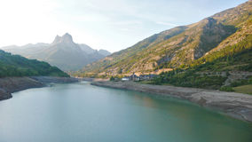 Réservoir de haute montagne Photos libres de droits