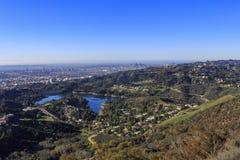 Réservoir de Hollywood à partir de dessus Photo stock