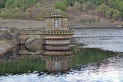 Réservoir de Ladybower, vallée d'espoir Images libres de droits