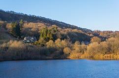 Réservoir de Ladybower, vallée de Derwent, Derbyshire, Angleterre image libre de droits