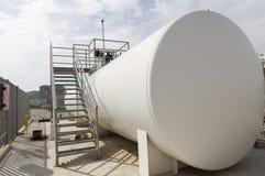 Réservoir de liquides inflammables Image stock
