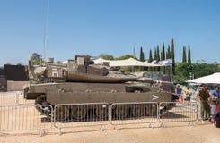 Réservoir de Merkava IV Israel Defence Forces Main Battle présenté sur m image stock