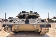 Réservoir de Merkava IV Israel Defence Forces Main Battle présenté sur m photo libre de droits