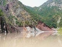 Réservoir de Nurek Image libre de droits
