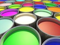 Réservoir de peinture de couleur Photographie stock libre de droits