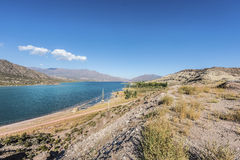 Réservoir de Potrerillos en Mendoza, Argentine photographie stock libre de droits