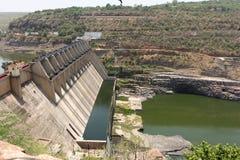 Réservoir de srisailam de barrage de l'eau photo libre de droits