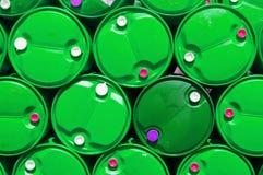 Réservoir de stockage de pétrole en plastique bleu de texture Photos libres de droits