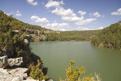 Réservoir de Toba, Cuenca, Espagne Photographie stock libre de droits