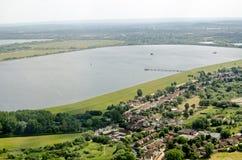 Réservoir de Wraysbury, Slough, vue aérienne Image stock