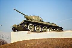 Réservoir du Soviétique T-34 Armes de la deuxième guerre mondiale Photographie stock libre de droits