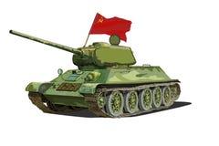 Réservoir du Soviétique T-34, image d'isolement de vecteur illustration stock