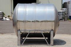 Réservoir en acier de tour d'eau avec le texte témoin Photo stock