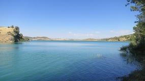 Réservoir en Andalousie, Espagne Photographie stock libre de droits
