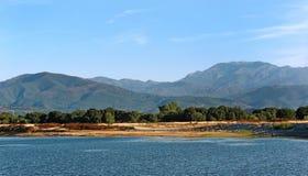Réservoir en plaine orientale de la Corse photographie stock libre de droits