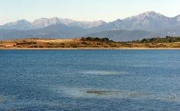 Réservoir en plaine orientale de la Corse photos stock