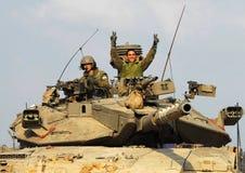 Réservoir israélien de film encreur - Merkava Photographie stock libre de droits