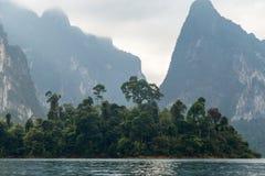 Réservoir Khao Sok Image libre de droits