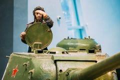 Réservoir lourd russe soviétique IS-2 dans le musée biélorusse du G Image stock