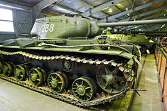 Réservoir lourd soviétique KV-85 (objet 239) Photos stock