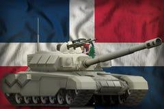 R?servoir lourd sur le fond de drapeau national de la R?publique Dominicaine  illustration 3D illustration libre de droits