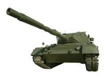 Réservoir militaire de léopard sur le blanc Image stock