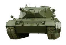 Réservoir militaire de léopard sur le blanc Images stock
