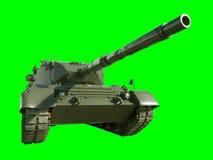 Réservoir militaire de léopard sur le vert Photographie stock libre de droits