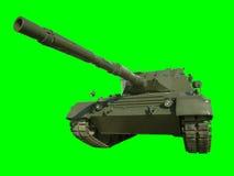 Réservoir militaire de léopard sur le vert Images libres de droits