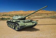 Réservoir moyen soviétique russe T-54 de 1946 Photographie stock libre de droits