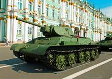 Réservoir moyen soviétique T-34 Images libres de droits