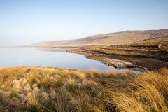 Réservoir peu profond de bruyère de Yorkshire Photo libre de droits