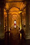 Réservoir souterrain, course vers Istanbul, Turquie Photographie stock libre de droits