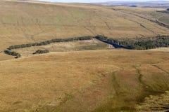 Réservoir supérieur de Neuadd Neuadd Uchaf, balises de Brecon photo stock