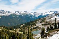 Réservoir sur la montagne de siffleur Image stock
