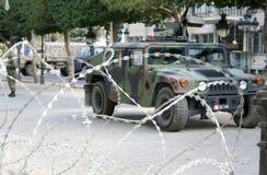Réservoir tunisien dans le grand dos de la Tunisie Photographie stock libre de droits