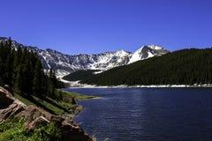 Réservoir vert de montagne dans le Colorado Photo stock