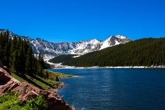 Réservoir vert de montagne dans le Colorado Photo libre de droits